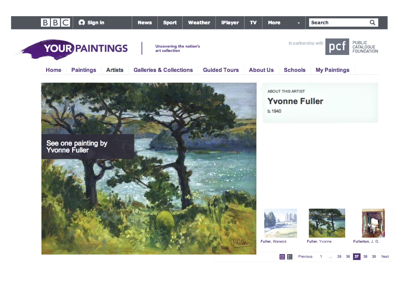 Yvonne Fuller Your Paintings, 108 St Mawes from  Lanarth