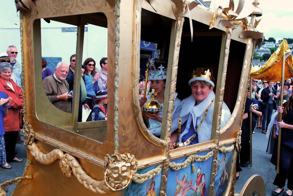 The Queen and The Duke of Edinburgh in the State Coach