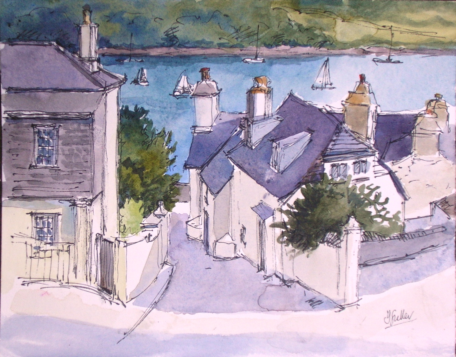 Cottages below the Church, St Mawes