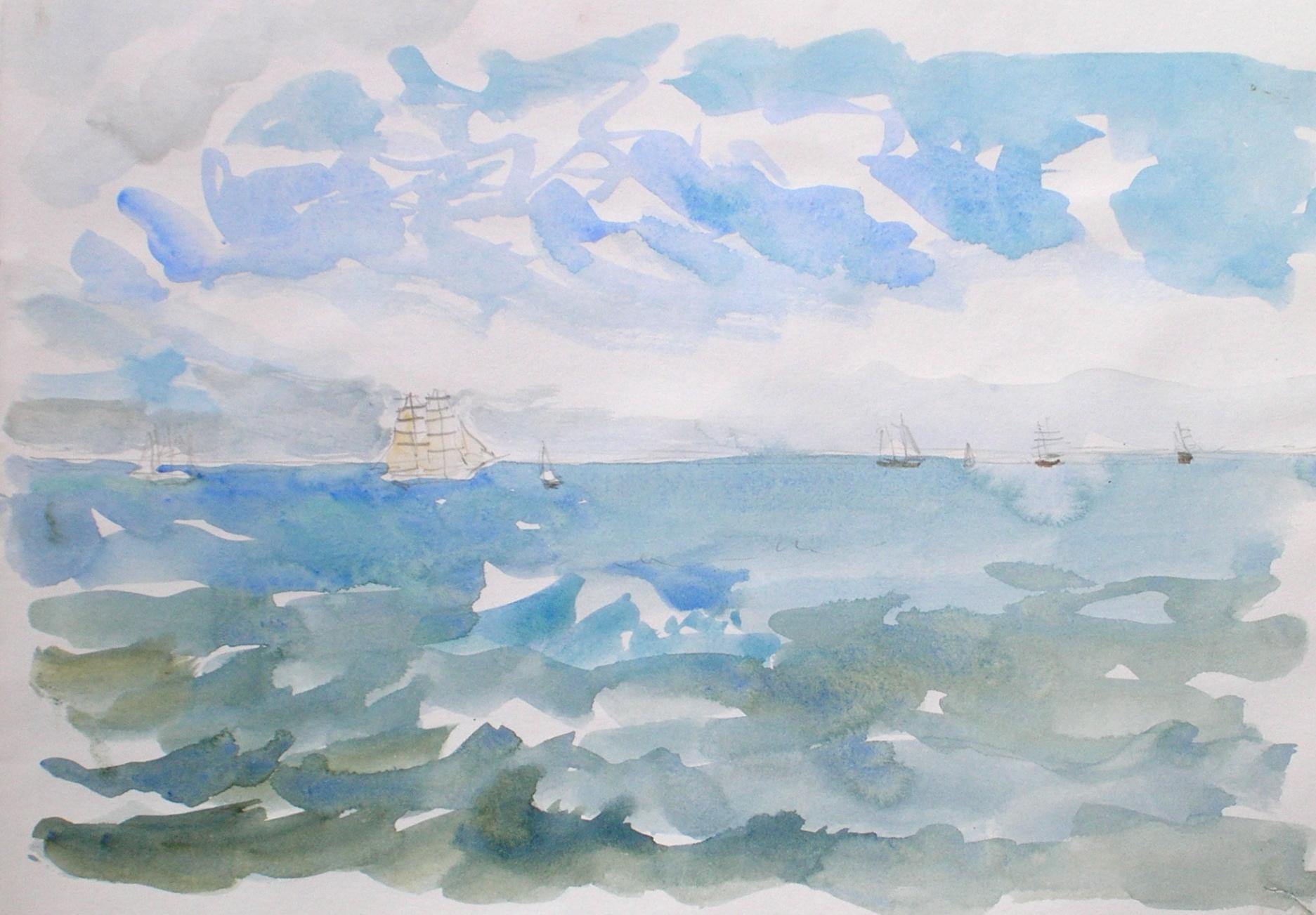 Tall Ships' Race 1998, the fleet sails away