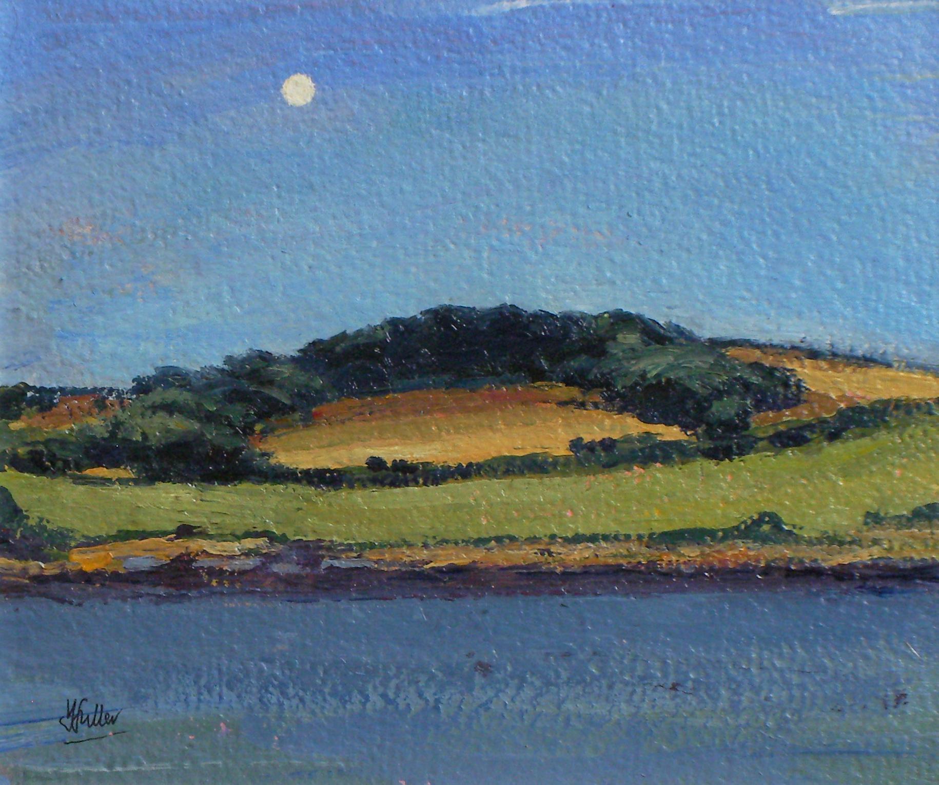 672 Summer moonrise, Carricknath