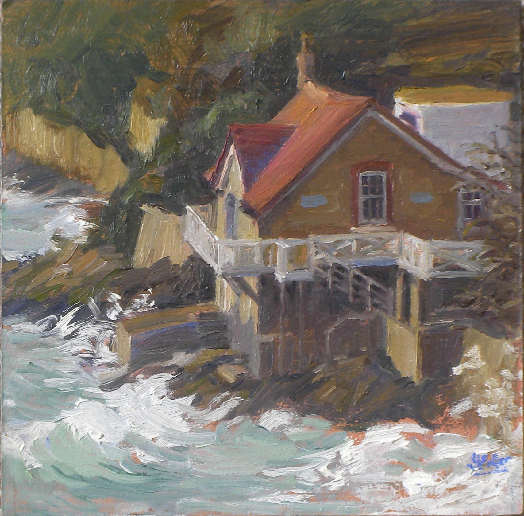 744 Boathouse rough sea 2014