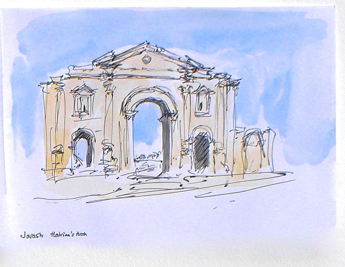 Jerrash, Hadrian's Arch