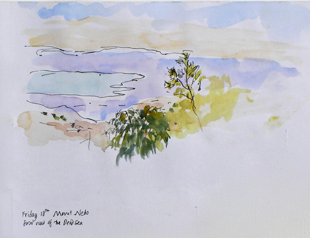 The Dead Sea from Mount Nebo