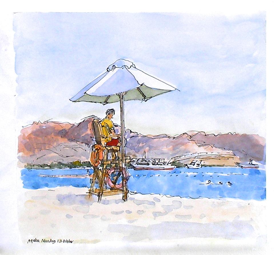 The beach guard Aqaba