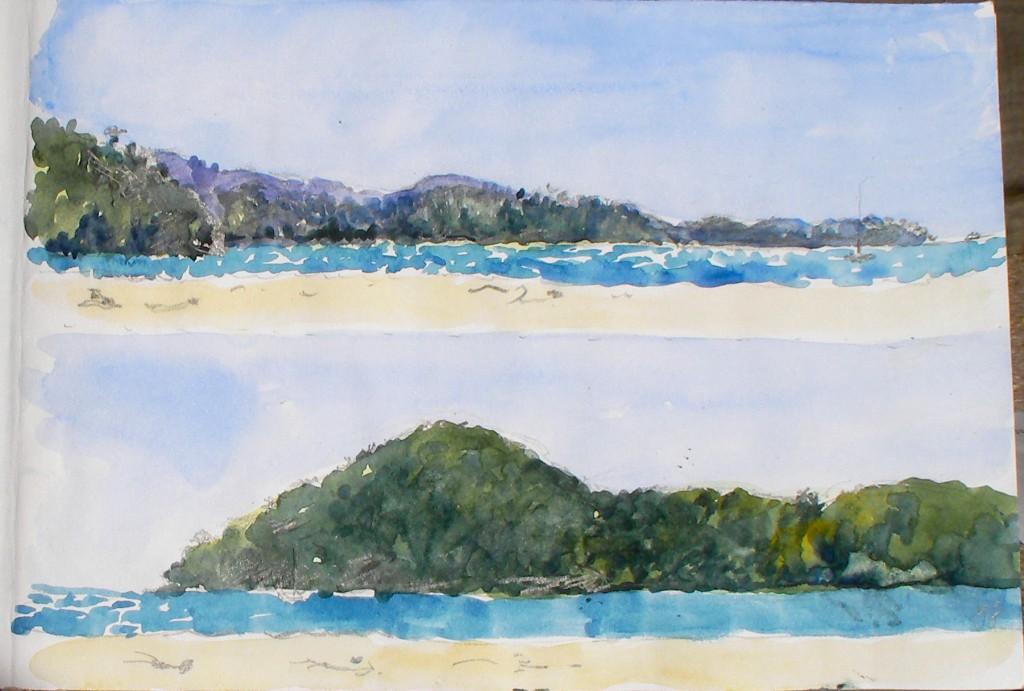 Abel Tasman Beach  panorama